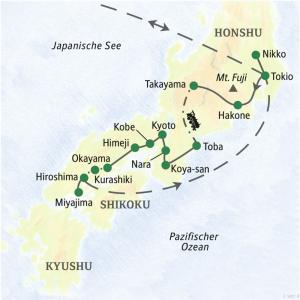 Reise-Route