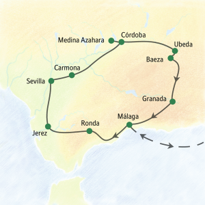 Reiseroute Andalusien